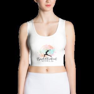 Buddhifool Crop Top (White)