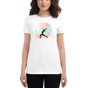 Buddhifool World Women's Short Sleeve T-Shirt (White)