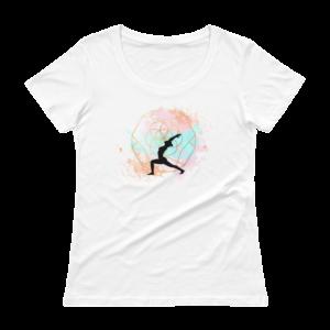 Buddhifool World Ladies' Scoopneck T-Shirt (White)