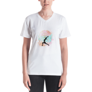 Buddhifool World Women's V-neck (White)